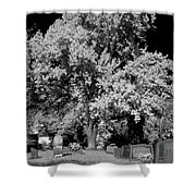 Cemetery Infrared Shower Curtain