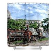 Cemetery Of Railway Shower Curtain