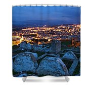 Cemetery Overlooking Fes, Morocco Shower Curtain