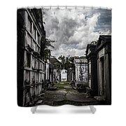 Cemetery Row Shower Curtain