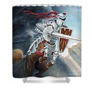 Centaur Joust Shower Curtain