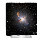 Centaurus A Black Hole Shower Curtain