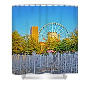 Centennial Fountains Shower Curtain