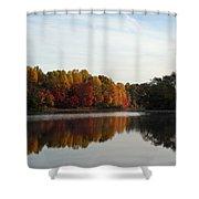Centennial Lake Autumn - Fall Dressing Shower Curtain