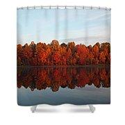 Centennial Lake Autumn - In Full Autumn Bloom Shower Curtain