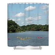 Centennial Lake Kayaks Shower Curtain
