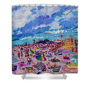 Center Panel Of Triptych Busy Relaxing Shower Curtain