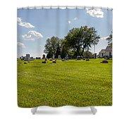 Center Ridge Cemetery Shower Curtain