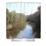 Center River Shower Curtain