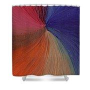 Centered Oil Swirls Shower Curtain