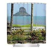 Centered Shower Curtain