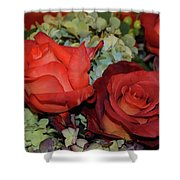 Centerpiece Roses Shower Curtain