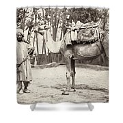 Central Asian Traveler Shower Curtain
