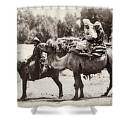 Central Asian Travelers Shower Curtain
