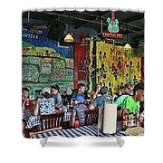 Central B B Q # 2- Memphis Shower Curtain