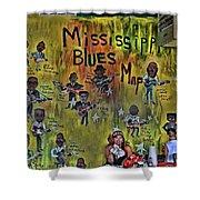 Central B B Q # 3- Memphis Shower Curtain