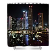 Central Business District, Singapore Shower Curtain