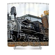 Central City Locomotive Shower Curtain