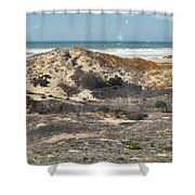 Central Coast Sand Dunes Shower Curtain