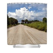 Central Florida Back Road Shower Curtain