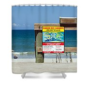 Central Florida Beach Warning Shower Curtain