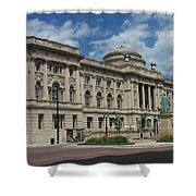 Central Library Milwaukee Full View Shower Curtain
