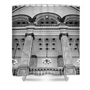 Central Library Milwaukee Interior Bw Shower Curtain