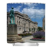 Central Library Milwaukee Street View Shower Curtain