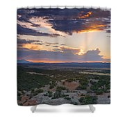 Central New Mexico Sunset Shower Curtain