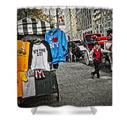 Central Park Carriage Horse Shower Curtain