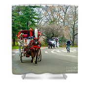 Central Park Horse And Buggy Rides New York City Shower Curtain