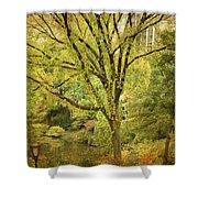 Central Park In Autumn Texture 5 Shower Curtain