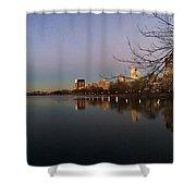 Central Park Lake  Shower Curtain