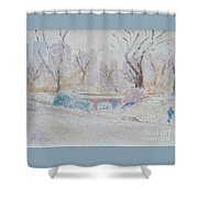 Central Park Record Early March Cold Circa 2007 Shower Curtain