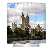 Central Park Reservoir  Shower Curtain