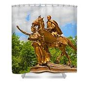 Central Park Sculpture-general Sherman Shower Curtain