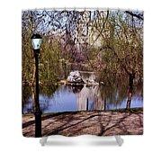 Central Park Sidewalk Shower Curtain