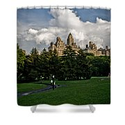 Central Park Skies Shower Curtain