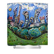 Central Park South Shower Curtain