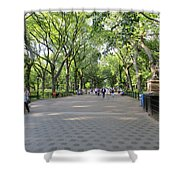 Central Park The Mall Shower Curtain