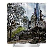 Central Park Views  Shower Curtain