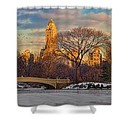 Central Parks Famous Bow Bridge Shower Curtain