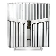 Central Rain Pipe Shower Curtain