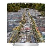 Centralia Graffiti Highway Shower Curtain