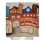 Centre Town Shower Curtain
