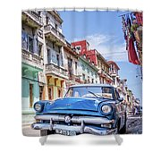 Centro Habana - Vertical Shower Curtain
