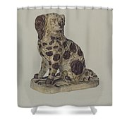 Ceramic Coach Dog Shower Curtain