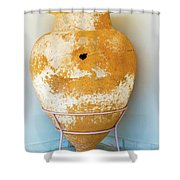 Ceramic Pot From Olympia. Shower Curtain