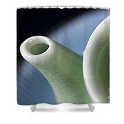 Ceramic Teapot Shower Curtain