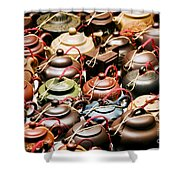 Ceramic Teapots Shower Curtain